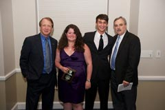 WUFT-FM News & WUFT-TV/FM:  Dean John Wright, Stephanie Brown (Ralph L. Lowenstein Broadcast News Award), Trent Kelly (Kenneth A. Christiansen Award), and Radio News Director Tom Krynski.