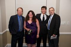 WUFT-FM News & WUFT-TV/FM:  Dean John Wright, Stephanie Brown (Ralph L. Lowenstein Broadcast News Award), Trent Kelly (Kenneth A. Christiansen Award), and Radio News Director Tom Krynski.