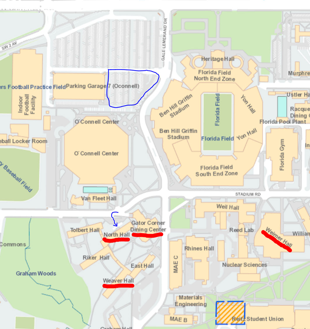 uf college of journalism and communications - click map for larger version