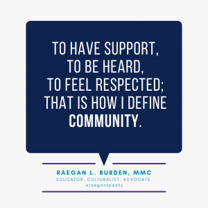 raegan burden on community