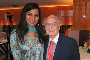 Sarab Kohhar and Harold Burson, founding Chairman of Burson-Marsteller.