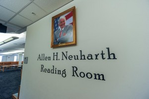 The Allen H. Neuharth Reading Room at Library West