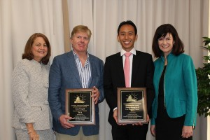 Sandra Chance, Paul Pringle, Ron Li, and Dean Diane McFarlin