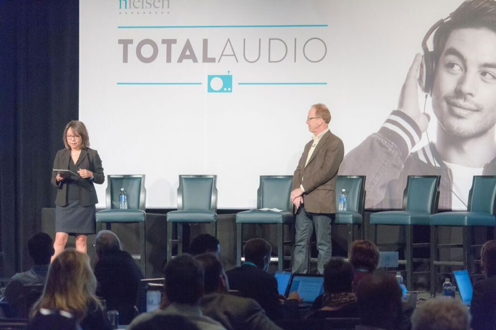 Dr. Chan-Olmsted, with Nielsen VP of Measurement Innovation Dr. Ed Cohen, presented the findings at the Nielsen Total Audio client conference.