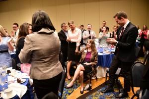 Julie Dodd receives a standing ovation.