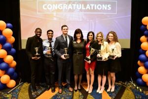 College-wide award winners with Dean Diane McFarlin.