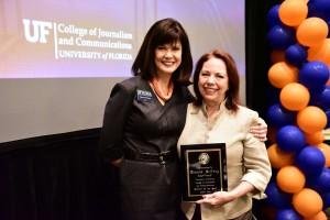 Teacher of the Year Deanna Pelfrey with Dean Diane McFarlin.