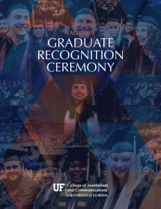 Graduate Recognition Ceremony program